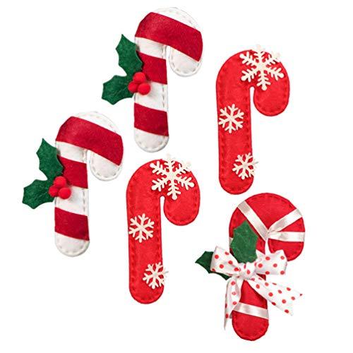 STOBOK 5 bastones de caramelo de Navidad para colgar en el árbol de Navidad, decoración de pared o ventana