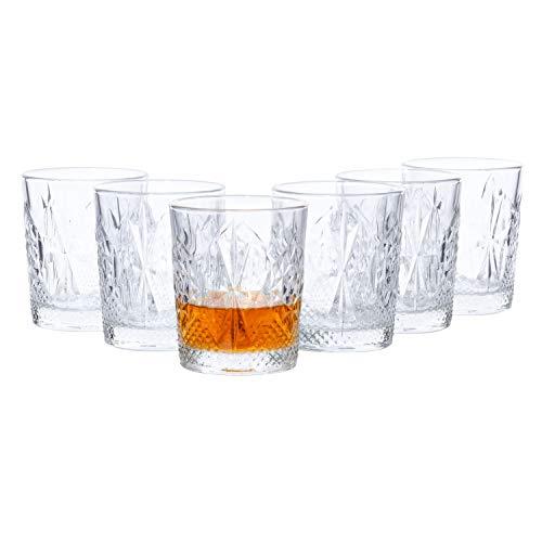 Van Well Bormioli Rocco   Set di 6 bicchieri D.O.F. Stone   350 ml   bicchieri in cristallo levigato   vetro di marca   eleganti stoviglie   qualità gastronomica