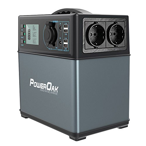 POWEROAK PS5 400Wh / 120000mAh solar AC/DC Generator, 300 W, 230 V