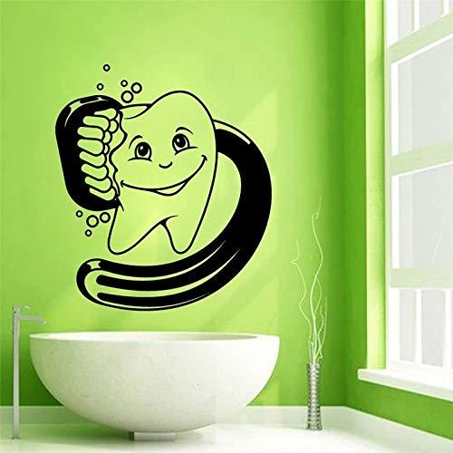 WERWN Cuarto de baño Etiqueta de la Pared decoración Diente Lindo Arte de la Pared Color de la Pared Etiqueta de la Pared