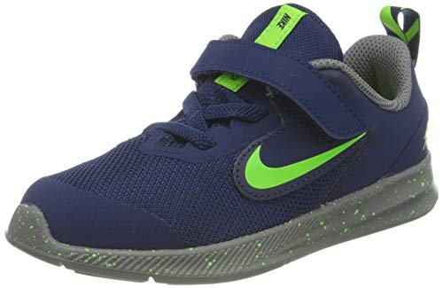 Nike Unisex-Kinder Downshifter 9 Rw Traillaufschuhe, Mehrfarbig (Blue Void/Electric Green/Gunsmoke 400), 21 EU