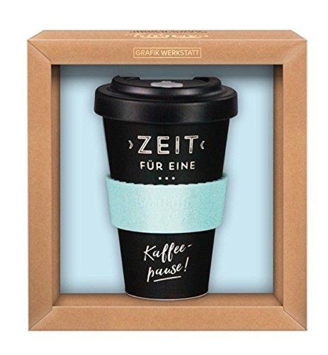 Grafik-Werkstatt Premium Becher mit Deckel |Kaffeebecher to go | 400 ml |Kaffeepause