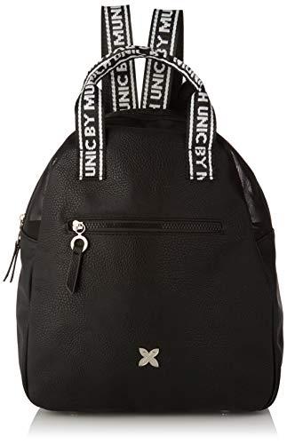 Munich Backpack Tulle, Bolso mochila para Mujer, Negro (Gun/Black), 15.5x30x35 cm (W x H x L)