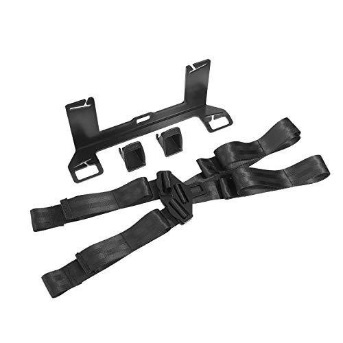 Kshzmoto Autos Soporte de seguridad para niños Soporte de montaje Pestillo de acero universal para conector de cinturón ISOFIX Pestillo de soporte del cinturón de seguridad