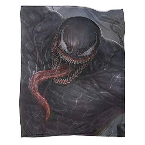 Xaviera Doherty Venom Superhero Movie Manta de terciopelo con lenguaje artístico de 180 x 230 cm, suave y cómoda, para cama/sofá/sala de estar, habitación/dormitorio,