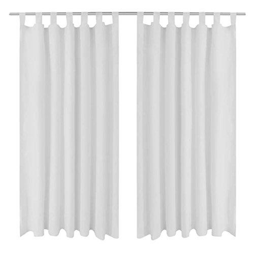 cortinas salon blancas trabillas