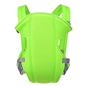 SYGA Baby Safety Carrier Infant Baby Kids Front and Back Carrier Backpack Newborn Hipseat Wrap Sling Bag_Green