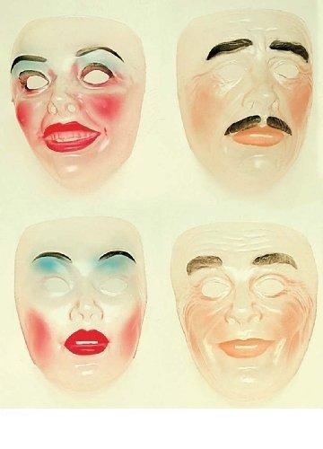 Transparante gezichtsmasker New Years Party Maskers Oogjes & Vermommingen voor Masquerade Fancy Dress Kostuum Accessoire