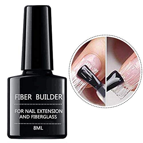 Allongement des ongles Gel Extension rapide des ongles Gel de fibre de verre Gel de construction transparent Extension des ongles pour embouts des ongles Extension des doigts Poly Glue Gel UV 8ml.