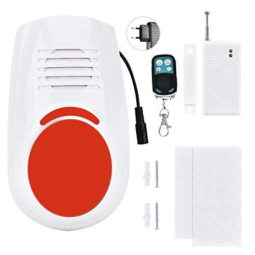 Alarma de luz y Sonido, Detector de luz Flexible, Microprocesador Sistema antirrobo de Sala de Estar de Alta Resistencia Familia de(European Standard (110-240V))