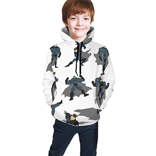fghjfdjfg Superhero Fun Cartoon Man In Costume Posing Hero Flying (1) Kapuzenhemd Teen Sweatshirt Kinder Hoodie Unisex Langes Shirt Für Teen Hoodie(XL(18-20))