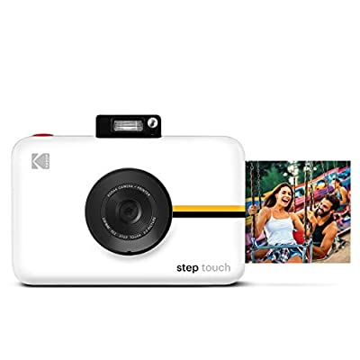 Kodak Step Touch | 13MP Digital Camera & Instant Printer with 3.5 LCD Touchscreen Display, 1080p HD Video - Editing Suite, Bluetooth & Zink Zero Ink Technology | White