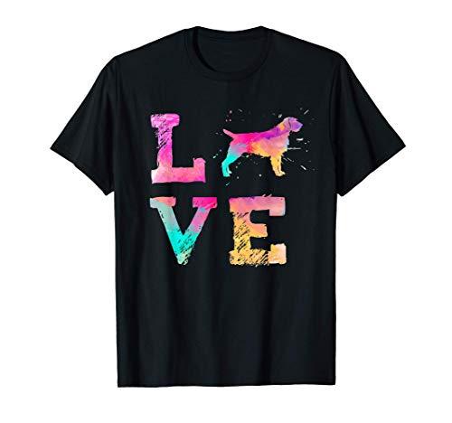Acuarela colorida de pelo de alambre señalando al perro grif Camiseta