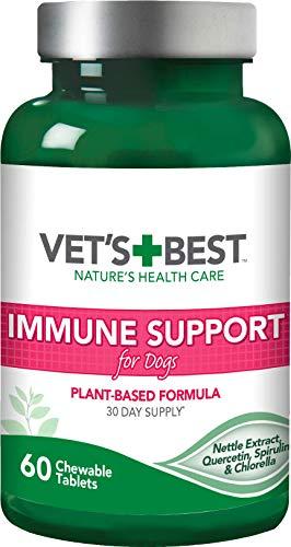 Vet's Best Suplemento inmune de apoyo para perros ,60 Unidades,180 g
