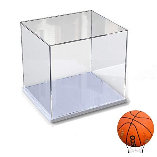Elepure -  Caja de cristal acrílico transparente para colección Lego # Figura mejorada,  expositor,  caja de exhibición antipolvo con base para juguetes,  minifiguras (blanco,  30 x 30 x 30 cm)