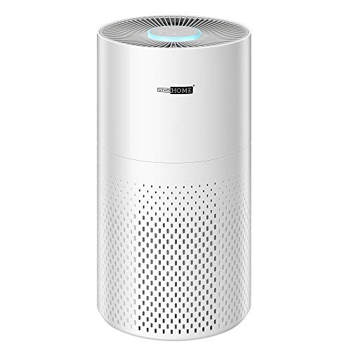 VIVOHOME Air Purifier with 7-colour Night Light, True HEPA and Carbon Filter, Get Rid of Smoke Odor Dust Mold Pets Hair Allergies for Home Bedroom Office, 100% Ozone-free, ETL CARB FCC Listed