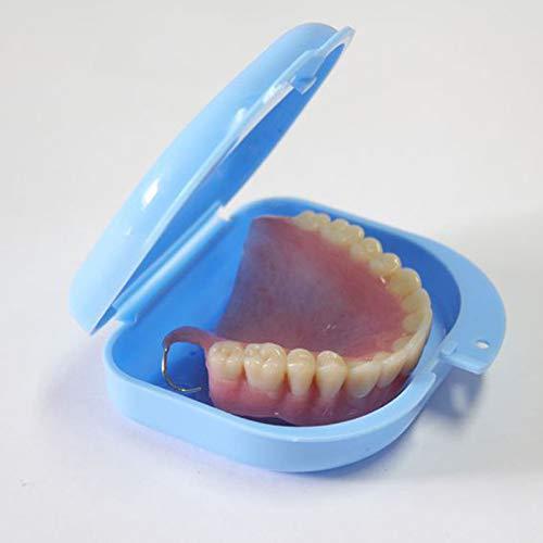 LINKLANK Kieferorthopädische Aufbewahrungsbox, belüftet, für Zahnprothesen, ideal für Ausrichtungen, Zahnspangen, Zahnprothesen, zufällige Farbe, 10 Stück