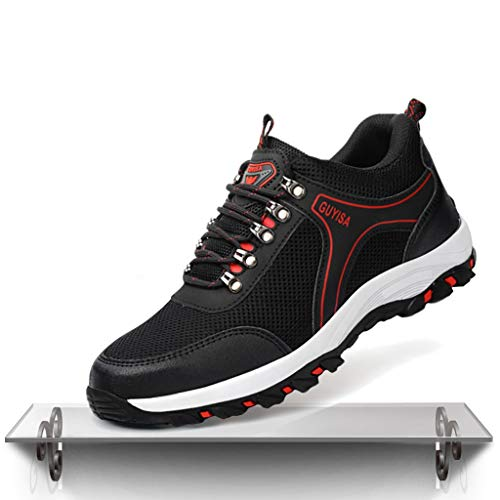 Schuhe Sommerarbeitsversicherungsschuhe for Herren, atmungsaktive und desodorierende leichte Superfaser-Arbeitsschuhe, Anti-Milben- und pannensichere Pfannen-Arbeitsschuhe (Color : A, Size : 46)