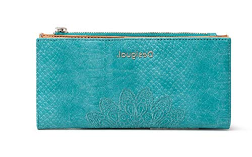 Desigual Wallet Ceinture de Voyage pour Femme Bleu U