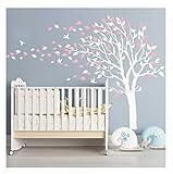 Syala Wandaufkleber Rosa Baum Mauerdekor Kinder Wandsticker Aufkleber Dekoration Cherry Blossom Baum Kinderzimmer Schlafzimmer Baby Kids