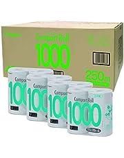 【ケース販売】丸富製紙コンパクト1000トイレットロール 再生紙 4Rシングル×4入