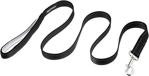 Amazon Basics Padded Handle Dog Leash, 4-Foot, Black