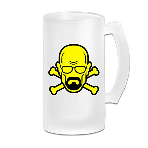 Heisenberg Frosted Beer Mugs Glass,Frosted Glass Beer Mugs,Frosted Beer Mug