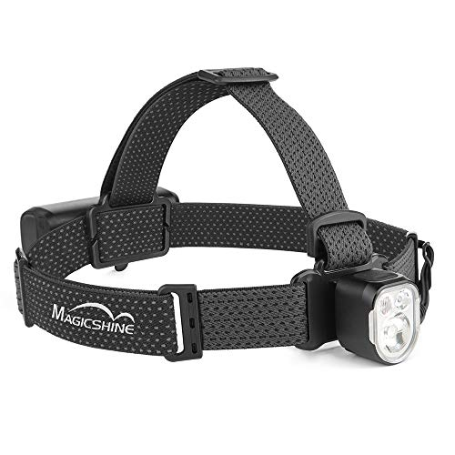 Magicshine MOH 35 Compact Headlamp, 1000 lumens max output, less than 4 oz in weight, main white light, warm reading light and red light, IPX6 waterproof, hiking, exploring, bushcraft, skiing, camping