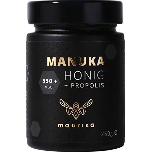 maorika - Manuka Honig 550 MGO mit Propolis 250g im Glas (lichtundurchlässig) - laborgeprüft