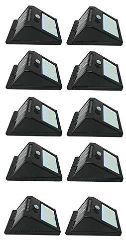 Terryshop74 100 X FARETTO da Esterno 20 LED con SENSORE CREPUSCOLARE E Pannello Solare Facile Installazione