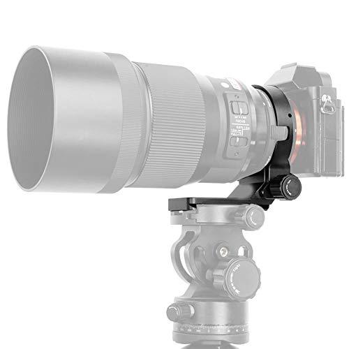 Anillo de montaje de trípode de lente, aleación de cámara Collar de lente Trípode Soporte Soporte Anillo de anillo con placa de liberación rápida para Sigma MC-11 Adaptador de lente Diámetro interno 6