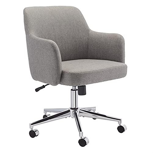 Amazon Basics Twill Fabric Adjustable Swivel Office Chair - Light Grey