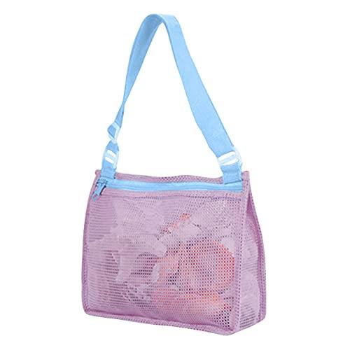 DAODE Juguetes de playa, bolsa de red para niños, bolsa para recoger conchas, juguetes de playa, juguetes de arena, accesorios de natación para niños y niñas (A)