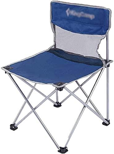YGCBL Taburetes de Camping Silla Plegable rápida, cómoda Silla al Aire Libre Transpirable Impermeable Silla de Pesca Duradera Silla de Parque, Azul (Color : Blue)