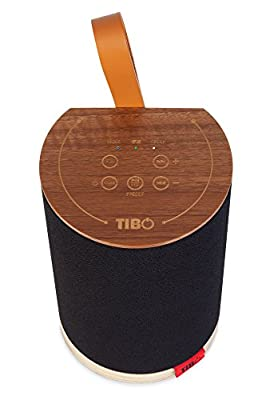 TIBO Vogue 1  Portable Wi-Fi & Bluetooth Speaker   Multi Room Battery Powered Hi-Fi Speaker with Internet Radio for Home or Outdoor Use   Minimum 8 Hours Playback Time   Walnut finish from TIBO