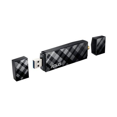 Asus USB-AC56 Dual-Band Wi-Fi USB Stick (WiFi 5 AC1200, USB 3.0 High-Speed, Windows Mac & Linux kompatibel)