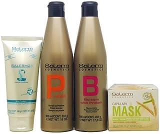 Salerm Combination Set Ii (Salerm Protein Shampoo 500 ml Balsam Conditioner 500 ml Capillary Mask Wheat Germ200 ml 21 L...