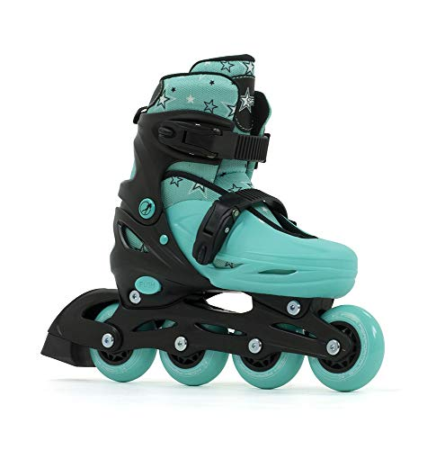 Sfr Skates SFR Plasma Adjustable Inline Skates Skating Unisex Child, Black/Green, 33-37