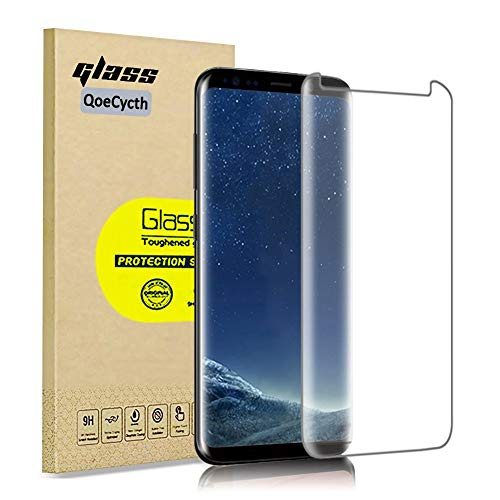 [3-Pack] Edge Screen Protector for Samsung Galaxy S8 Plus, 3D Curved Glass HD Tempered Glass Protective Film, High Definition (Stealth) Transparent for 6.2 Inch Samsung Galaxy S8 Plus