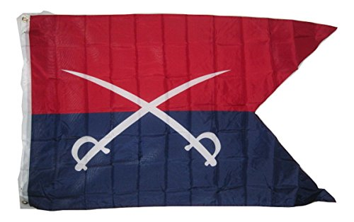 AES General G.a. Custer Cavalry Guidon Flag Flag 3 X 5 3x5 Feet New Polyester