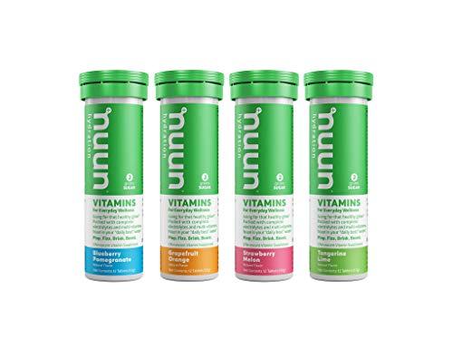 Nuun Vitamins: Vitamins + Electrolyte Drink Tablets, Mixed Fruit Flavor Pack, Box of 4 Tubes (48 Servings), Enhanced Everyday Wellness