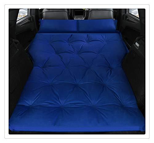 Cama Inflable for Coche, SUV, colchón for Coche, Fila, cojín for Dormir de Viaje en Coche, Cama de Aire Todoterreno, colchoneta for Acampar, colchón de Aire, colchón de Aire (Color : Double-Blue)