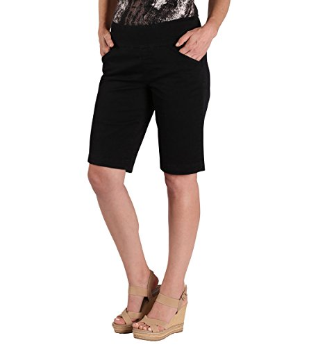 Jag Jeans Women's Ainsley Pull On Classic Fit Bermuda Short, Black Twill, 12