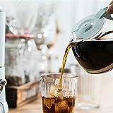 RONGXI Cafetera Portátil, Máquina de café Espresso Maker de Goteo 600ml Tetera Botella de Vidrio Botella de café Filtro a Prueba de Polvo Oso Aislado/Kfj-a06k1 (Color : 220-240V)