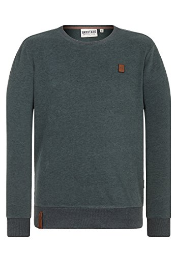 Naketano Herren Langarmshirt Augenbart IV T-Shirt LS