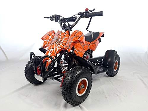Mini quad de gasolina con motor de 49cc de 2 tiempos -ATV23 MURCIELAGO. / Mini quad para niños de 5 a 12 años/miniquad infantil (NARANJA)