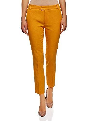 oodji Collection Mujer Pantalón Lino Recto