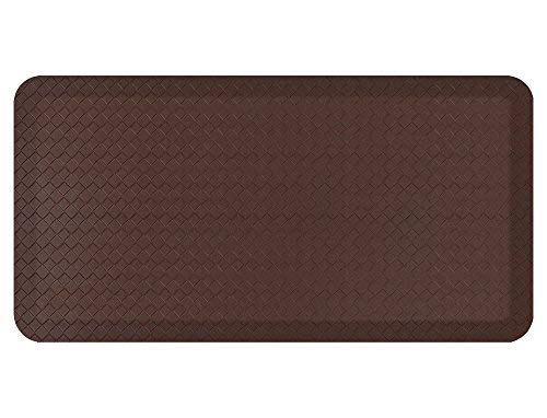 Standing Comfort Anti Fatigue Mat: Foam Ergonomic Standing Floor Mat - Non Slip Cushioned Kitchen Mat - Anti Fatigue Standing Desk Pad - Durable & Stain Resistant Top (Basic Brown, 20' x 39')