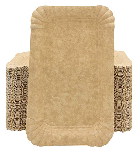 100 Vassoi di Cartone per Dolci Pasticceria, formato 12x19cm, Vassoio Carta per alimenti da portata anche per pasta fresca