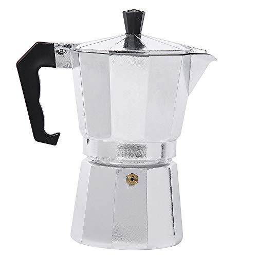 MYYINGELE Cafetière Moka Italien, Moka Espresso Percolateur Pot 1 Tasse/3 Tasses/6 Tasses/9 Tasses/12 Tasses Bouilloire à Café pour Bureau à Domicile, Détachable, 12 Cup